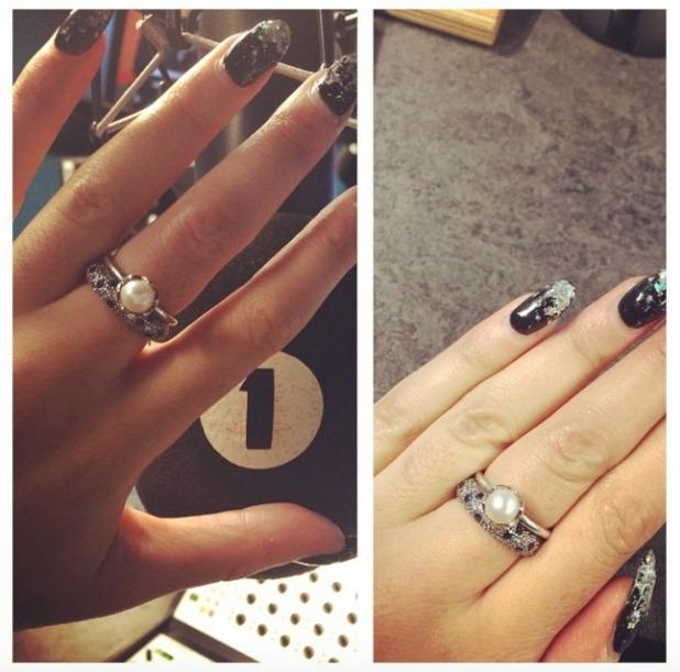 Sarah-Jane Crawford's black and glitter manicure, 2 December 2014