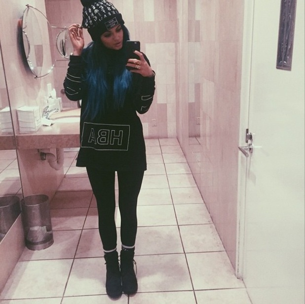 Kylie Jenner keeps warm in bobble hat and biker boots for rainy day in LA - Fashion News - Reveal