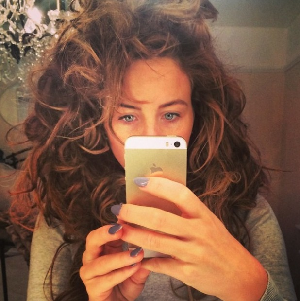 Lydia Bright has a bad hair day with crazy curls, 1 December 2014