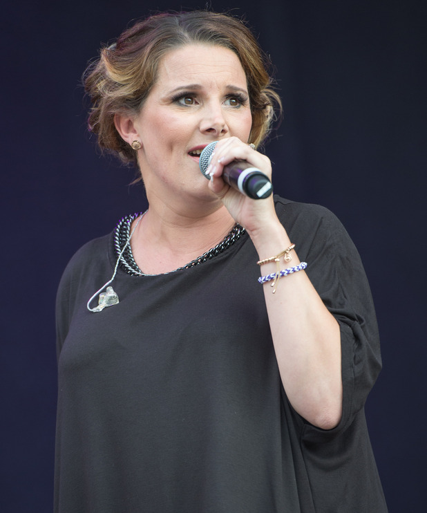 Sam Bailey performs on stage in her hometown during Day 2 of the Leicester Music Festival at Welford Road Stadium on July 26, 2014 in Leicester, United Kingdom.