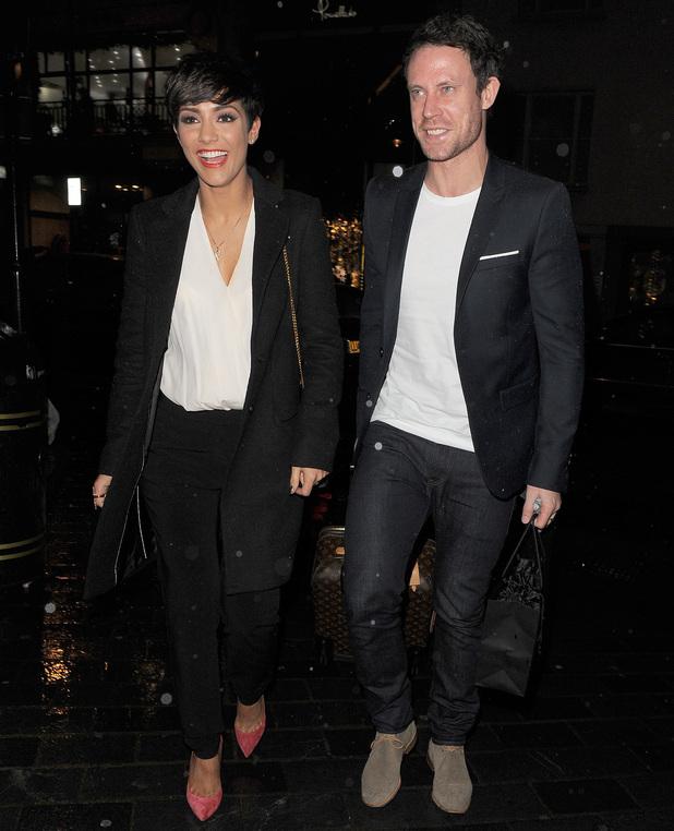 Frankie and Wayne Bridge out in London 4 November
