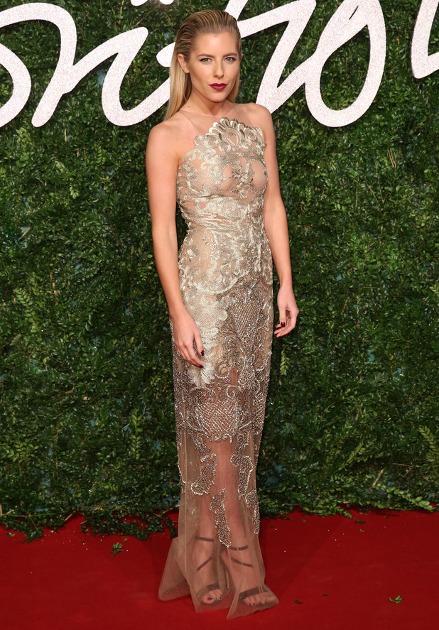 Mollie King attends the British Fashion Awards 2014, held at the London Coliseum - 1 December 2014