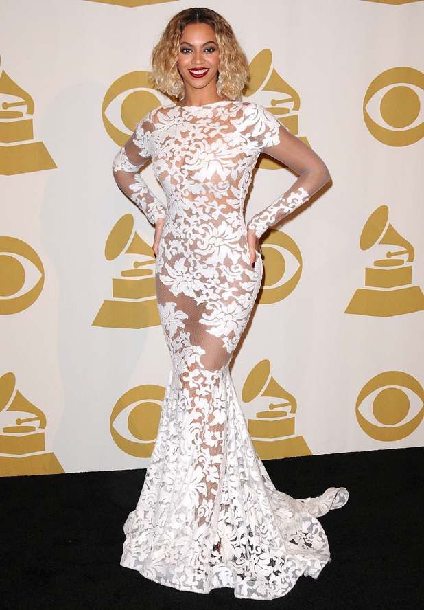 Beyoncé attends the 56th annual Grammy Awards in Los Angeles, America - 26 January 2014