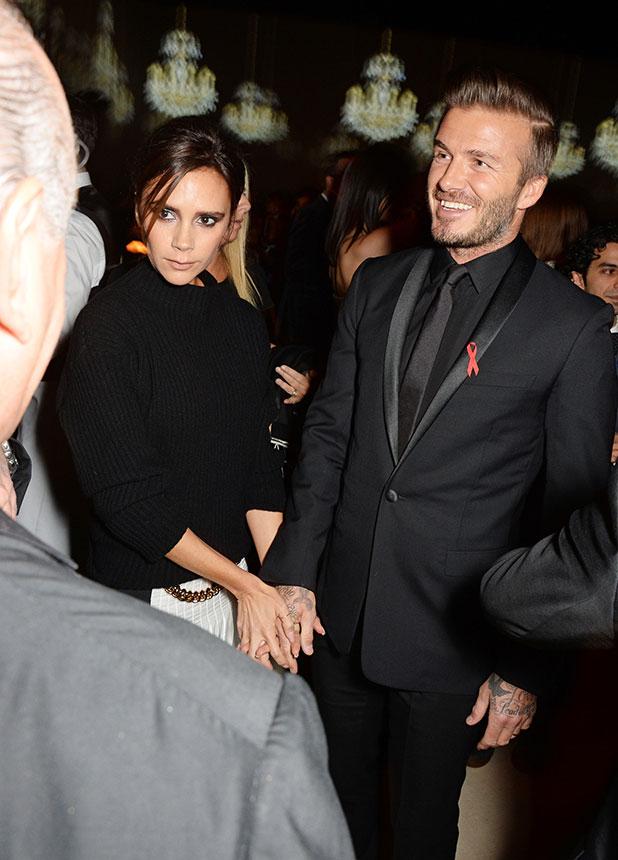 David and Victoria Beckham, The British Fashion Awards 2014 held at London Coliseum - Arrivals, 1 December 2014