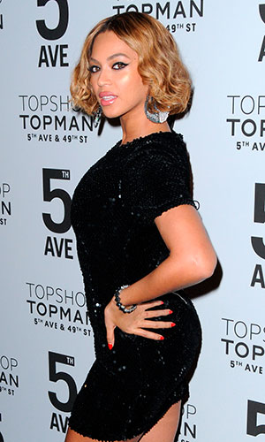 Beyonce at the Topshop Topman Dinner In Celebration of the 5th Avenue New York City Flagship Opening - Red Carpet Arrivals, November 2014