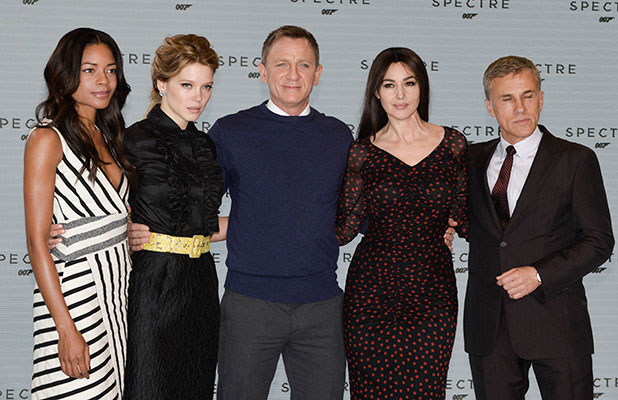 The launch of the new James Bond film, 'Spectre' - Arrivals Naomi Harris, Lea Seydoux, Daniel Craig, Monica Bellucci, Christoph Waltz