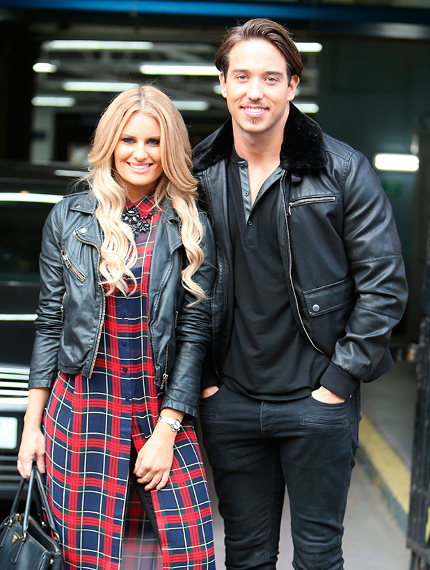 James Lock and Danielle Armstrong promoting the Christmas edition of 'The Only Way is Essex', 'The Only Way Is Essexmas', speaking to 'This Morning'. Shown on ITV1 HD.