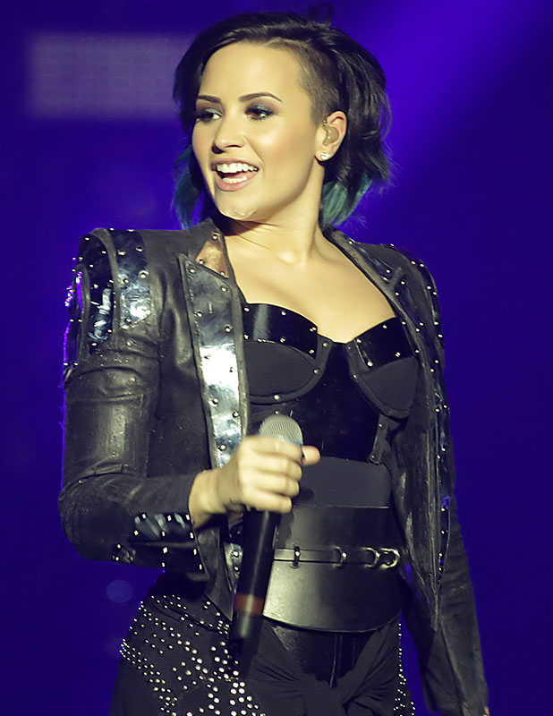 Demi Lovato performs live at Manchester Arena, November 2014
