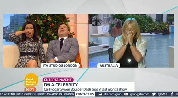 I'm A Celebrity 2014: Jimmy Bullard surprises Foggy's wife Michaela during live GMB interview, 4 December 2014