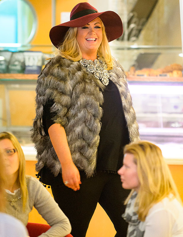 'The Only Way is Essex' cast filming, France - 26 Nov 2014, Gemma Collins makes her suprise appereance on the ferry