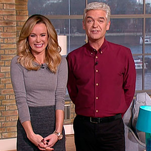 Phillip Schofield, Amanda Holden on This Morning ITV, 2014