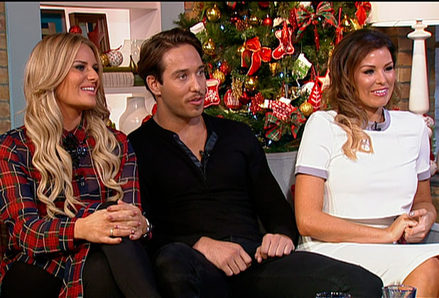 Jess Wright, James Lock and Danielle Armstrong promoting the Christmas edition of 'The Only Way is Essex', 'The Only Way Is Essexmas', speaking to 'This Morning'. Shown on ITV1 HD.
