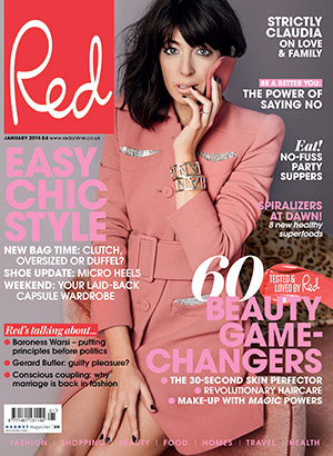 Claudia Winkleman is cover star for Red Magazine, January 2015 issue