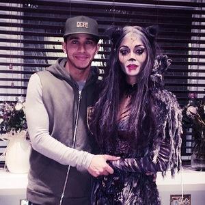 Lewis Hamilton supports Nicole Scherzinger for first Cats performance, London 9 December