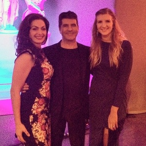 Pregnant Rebecca Adlington meets Simon Cowell at The Sun Military Awards - 10 December 2014.
