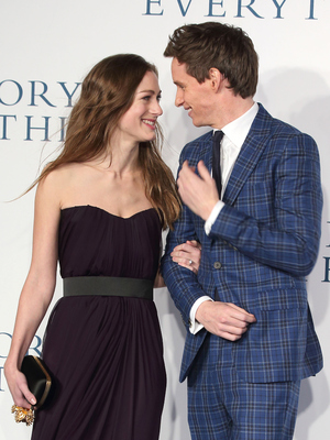 Eddie Redmayne and Hannah Bagshawe attend UK premiere The Theory of Everything, London 9 December