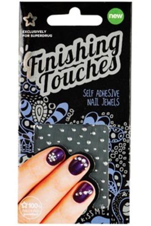 Finishing Touches Self Adhesive Round Nail Jewels