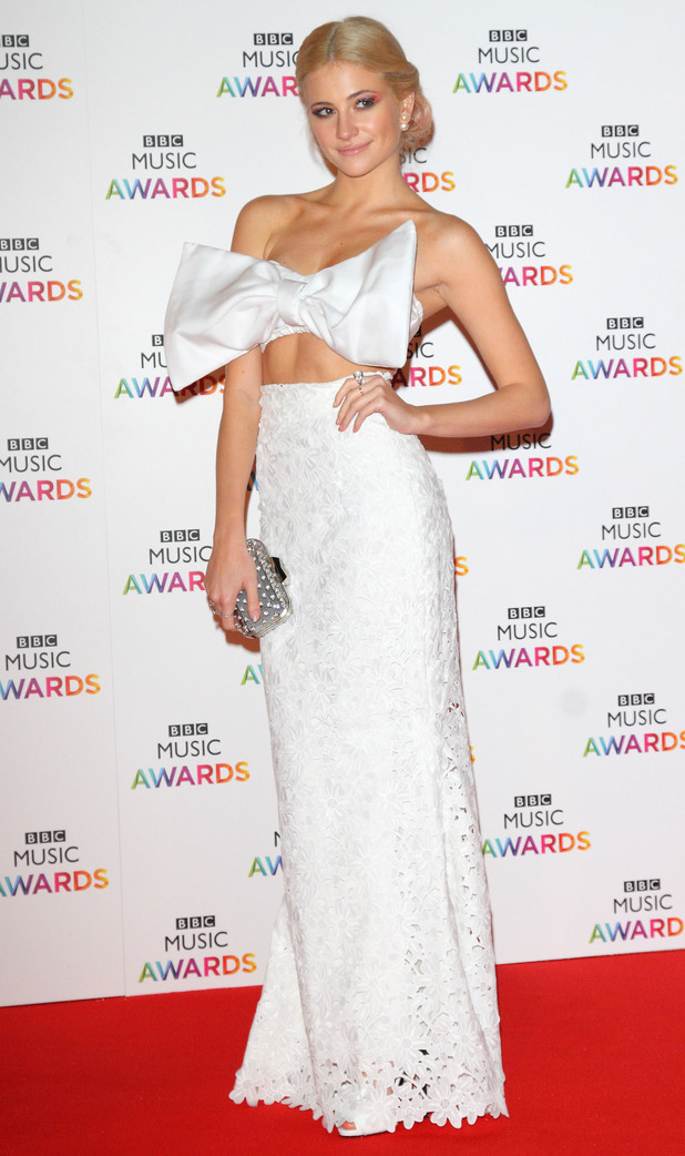Pixie Lott attends the BBC Music Awards at the Earls Court Exhibition Centre in London, England - 11 December 2014