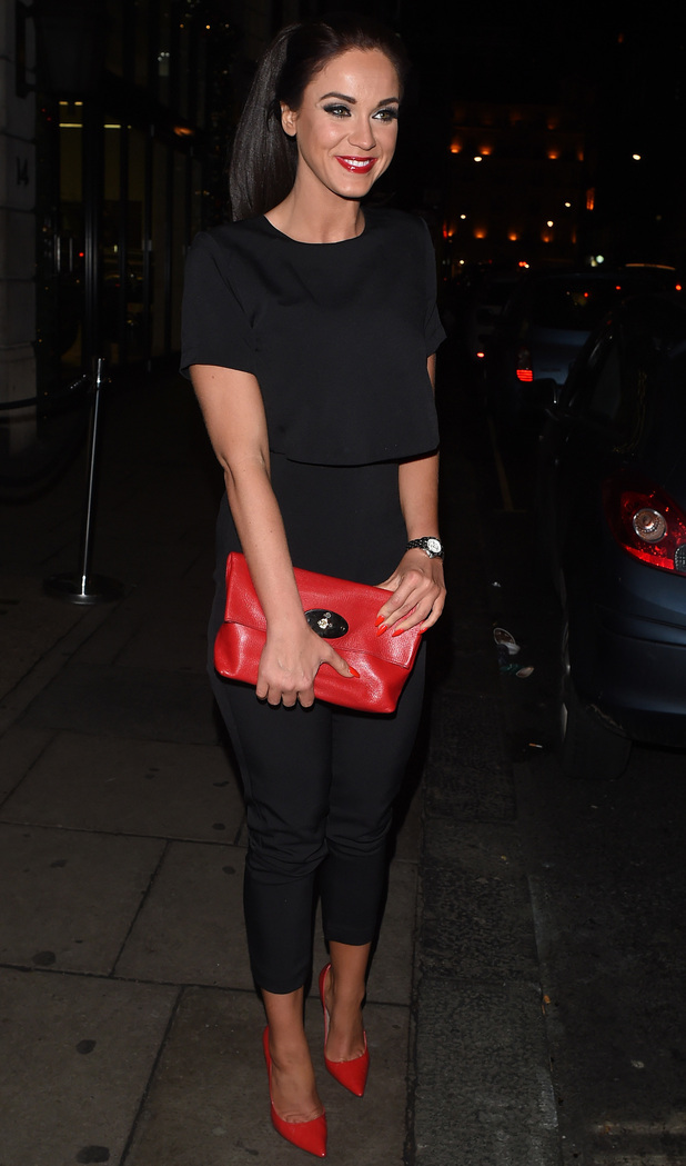 Vicky Pattison heads home from Nobu, London 10 December