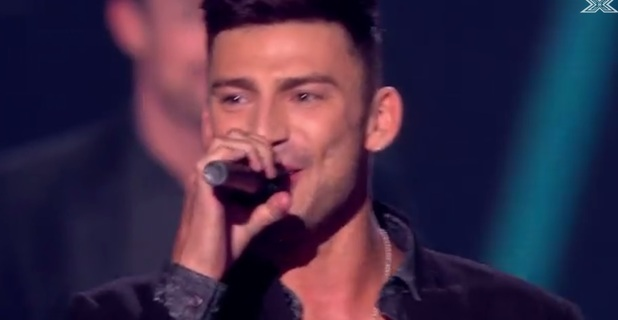 Jake Quickenden appears on X Factor finale 2014