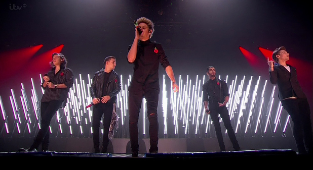 One Direction perform on The X Factor, ITV 9 November