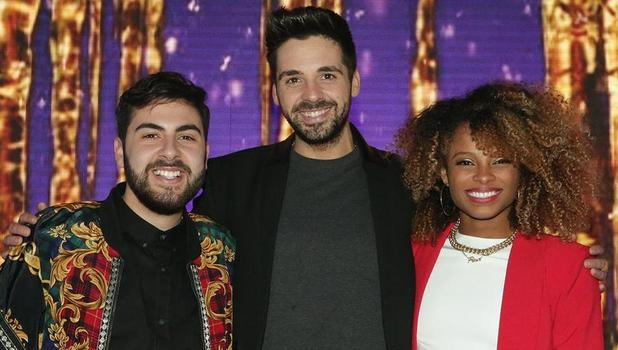 The X Factor 2014 finalists - Ben Haenow, Fleur East, Andrea Faustini - 10 Dec 2014