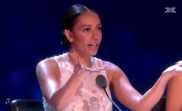 Mel B on X Factor finale, 2014