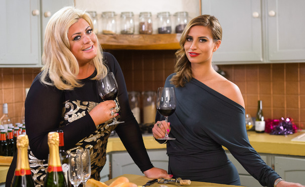 'The Only Way is Essex' cast filming, France - 26 Nov 2014 Gemma Collins, Ferne McCann