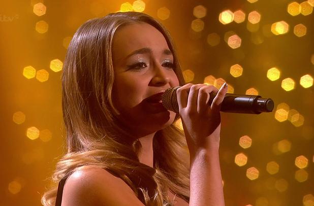 Lauren Platt sings for survival on 'The X Factor, Semi Final 7 December 2014.