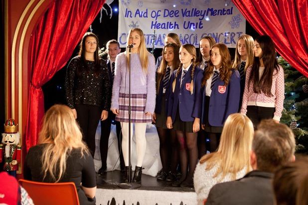 Hollyoaks, Holly at the carol concert, Thu 11 Dec