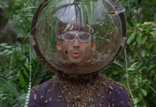 Jake Quickenden does the Fill Your Face Bushtucker Trial - 7 Dec 2014