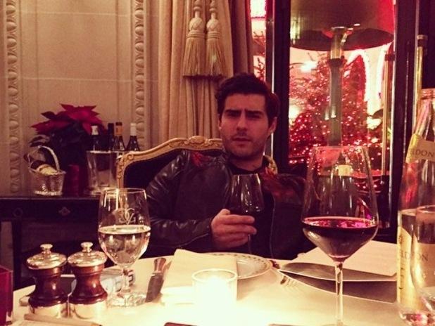 Alik Alfus enjoys dinner with Louise Thompson in Paris 12 December