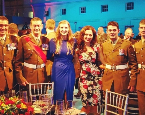 Pregnant Rebecca Adlington at The Sun Military Awards - 10 December 2014.