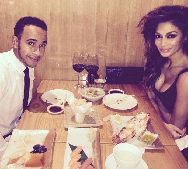 Lewis Hamilton and Nicole Scherzinger enjoy a sushi date night - 11 Dec 2014