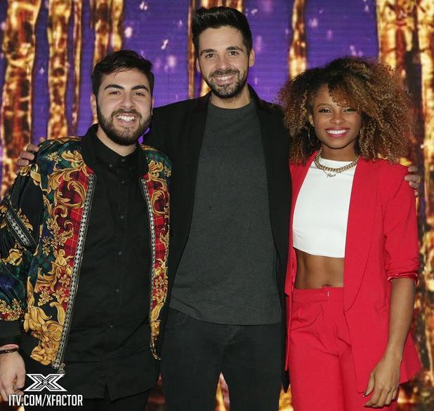 The X Factor 2014 finalists - Ben Haenow, Fleur East, Andrea Faustini - 10 Dec 2014