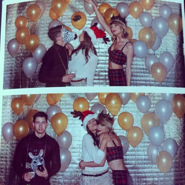 Nick Jonas shares picture of Taylor Swift's 25th birthday party, 12 December 2014