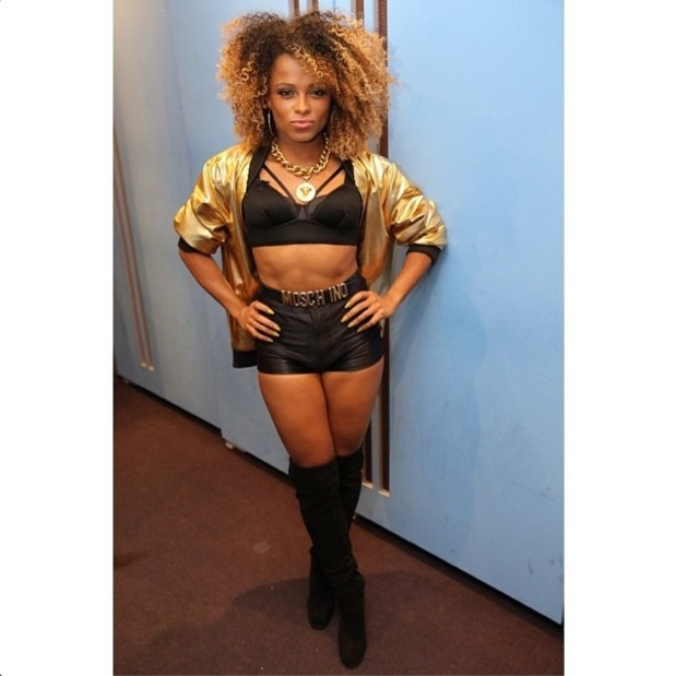 Fleur East gets ready to perform on The X Factor - 6 December 2014