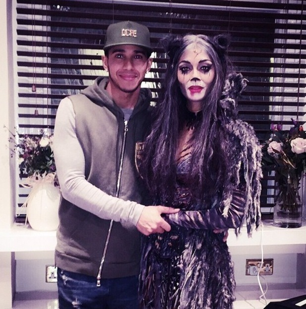 Lewis Hamilton supports Nicole Scherzinger for first Cats performance, London 9 December