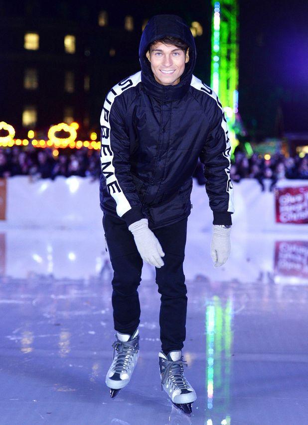 Joey Essex at Forbury Gardens ice skating rink, Reading, Britain - 09 Dec 2014.