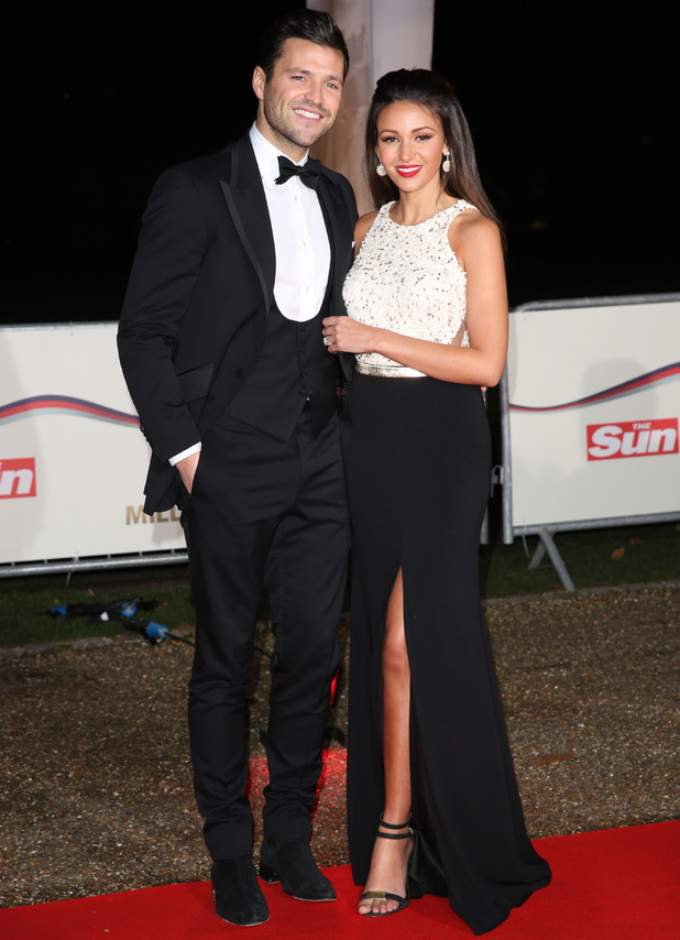 Mark Wright and Michelle Keegan at The Sun Military Awards (Millies) 2014 - Arrivals - 10 Dec 2014