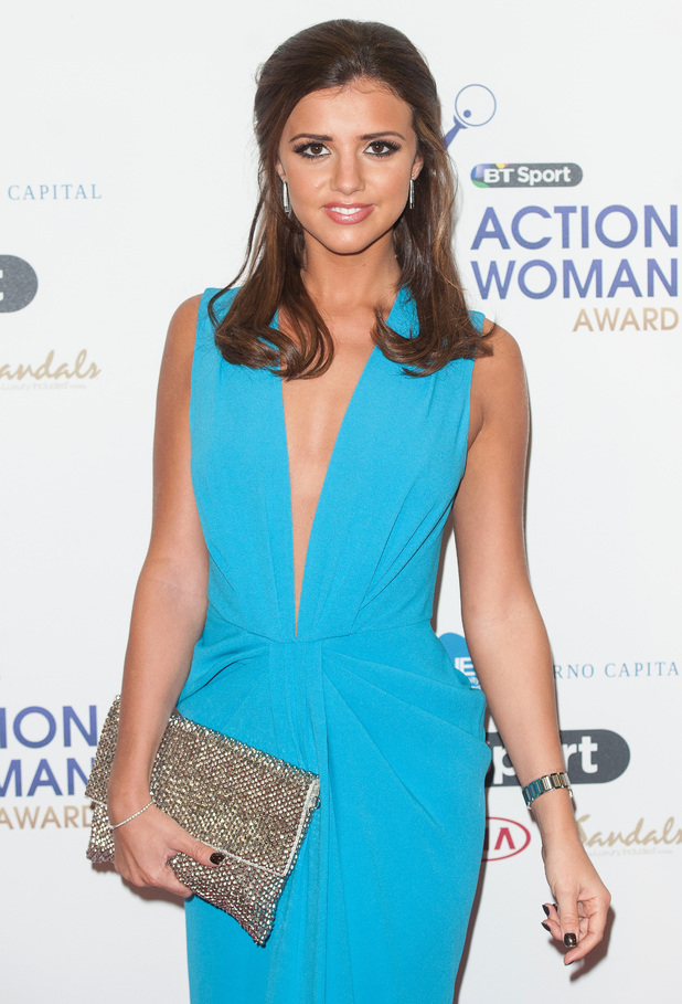 Lucy Mecklenburgh attends the BT Sport Action Woman Awards in London, England - 9 December 2014