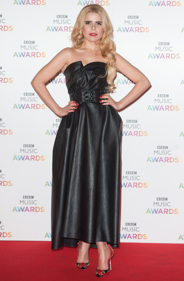 Paloma Faith attends the BBC Music Awards at Earls Court Exhibition Centre in London, England - 11 December 2014