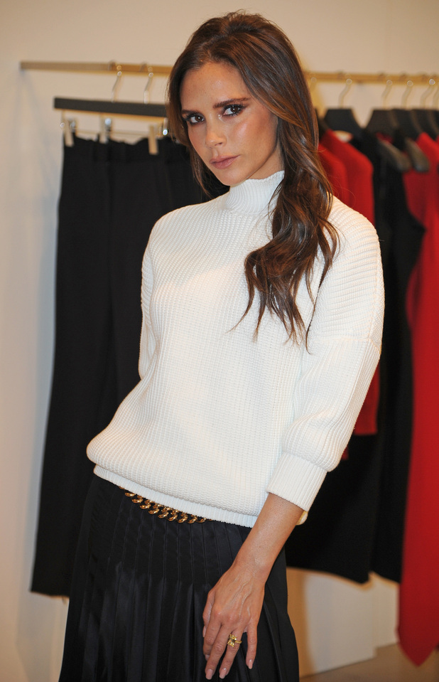 Victoria Beckham launches her clothing range in Selfridges in Manchester - 19 November 2014