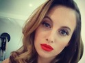 Behind-the-scenes with Rosie Fortescue on a shoot for her latest Lipstick Boutique collection, 10 December 2014