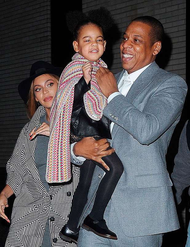 Jay Z, Beyonce Knowles and Blue Ivy Carter out and about, New York, America - 07 Dec 2014