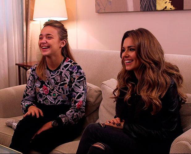 Lauren Platt and Cheryl Fernandez-Versini on X Factor, 2014