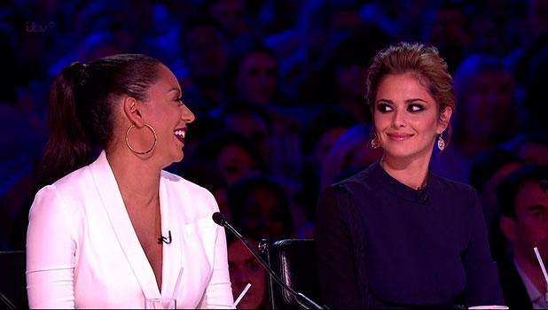 Mel B and Cheryl Fernandez-Versini on X Factor, 2014