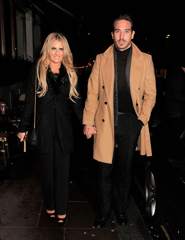 Danielle Armstrong and Lockie at the Sanctum Soho Hotel Christmas party, 9 December 2014