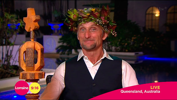 Carl Fogarty, the day after he was crowned 'King of the Jungle' in the final of 'I'm a Celebrity... Get Me Out of Here!', speaking to 'Lorraine'. Shown on ITV1 HD.