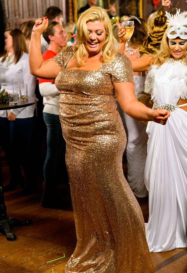 'The Only Way is Essex' cast filming at Lympne Castle, Kent, Britain - 30 Nov 2014 Gemma Collins